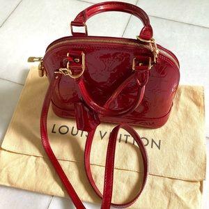 Authentic Louis Vuitton Alma BB Vernis
